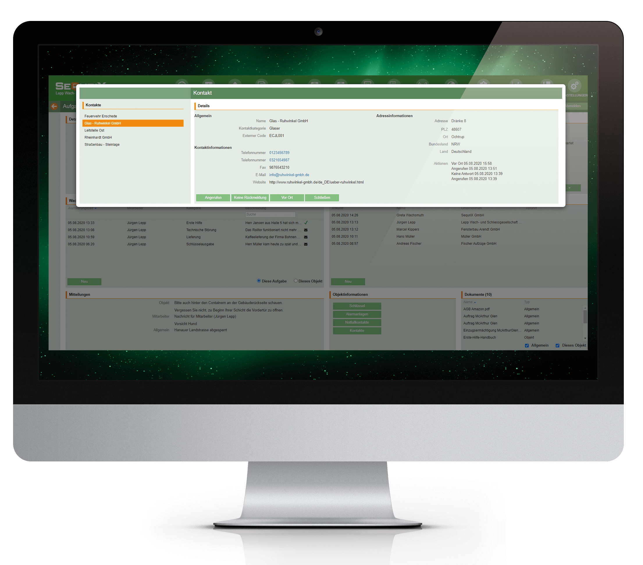 objektschutz sequrix desktop