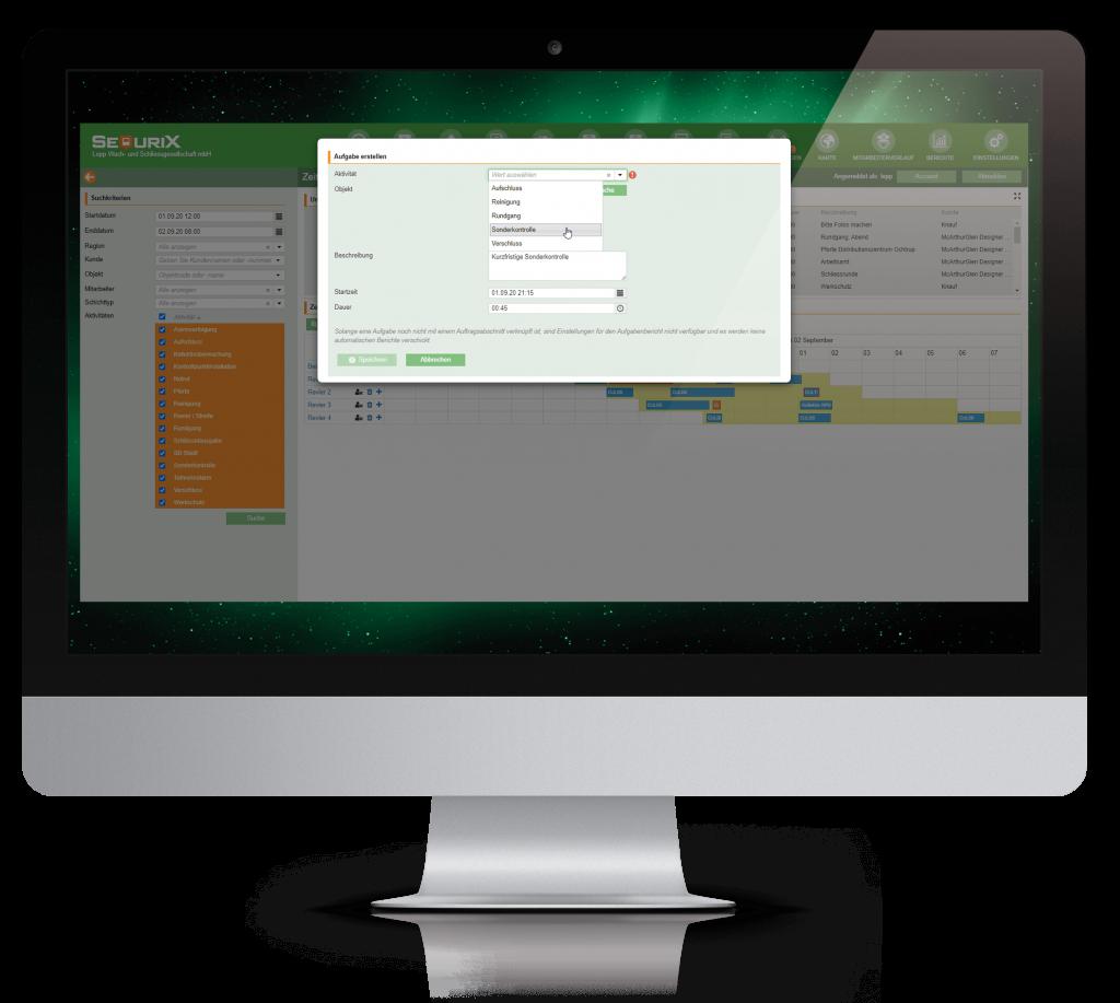Schicht- und Aufgabenplanung desktop